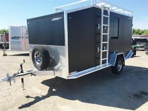 Aluminum 7x16 Cargo Trailer W/Overnight Package