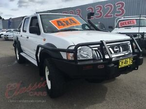2003 Nissan Navara D22 ST-R (4x4) White 5 Speed Manual Dual Cab Pick-up Lansvale Liverpool Area Preview