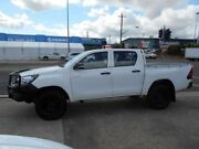 2015 Toyota Hilux GUN125R Workmate Double Cab White 6 Speed Manual Utility Fyshwick South Canberra Preview