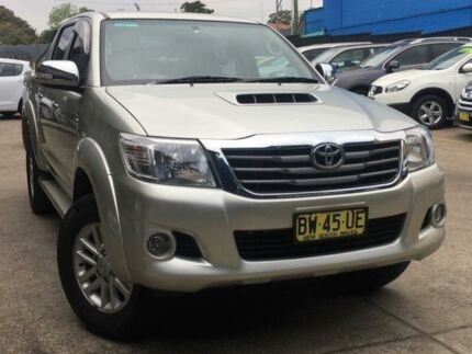2013 Toyota Hilux KUN26R MY14 SR5 Double Cab Champagne 5 Speed Automatic Utility