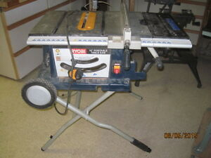 Contracter Job Site table saw and circular saws