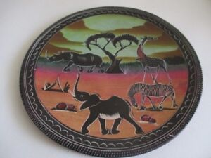 Handcrafted African Soapstone Decorative Plate