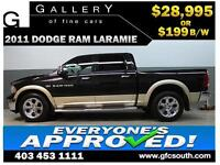 2011 DODGE RAM LARAMIE CREW *EVERYONE APPROVED* $0 DOWN $199/BW!