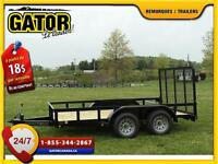 G-8012 PLATEFORME UTILITAIRE  TRAILER UTILITY  GATOR 6.10X12/ 2