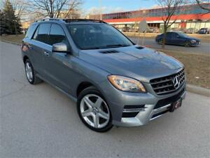 2013 MERCEDES ML350 AMG NAV LANE BLND ASIST PANO DIESEL 4MATIC