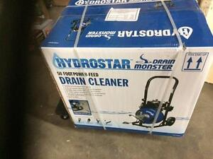 HOC - NEW 50 FT DRAIN CLEANER WITH POWER FEED, WHEELS MODEL 68284
