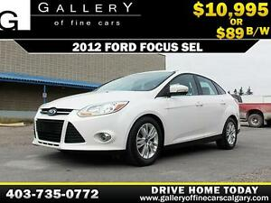2012 Ford Focus SEL $89 bi-weekly APPLY NOW DRIVE NOW
