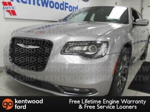 2017 Chrysler 300 S AWD with heated power leather seats and a ba