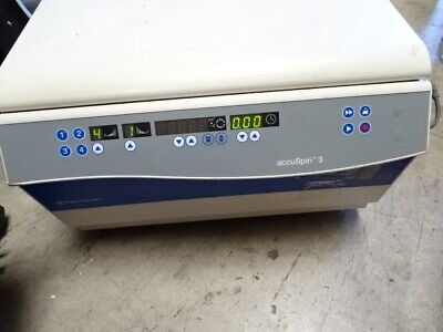 Fisher Scientific Accuspin 3 Centrifuge Tested Working.