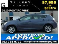 2010 Pontiac Vibe 2.4L $69 bi-weekly APPLY NOW DRIVE NOW
