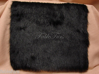 8 X10  Black Fake Faux Fur Sew Craft Fashion Costume Stuffed Toy New Fabric