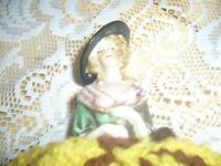 victorian half doll with beautifull detailed face and original tea cosy skirt.collect,ck.