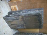 """20 RECLAIMED NATURAL GREY SLATE ROOF TILES 10"""" X 20"""""""