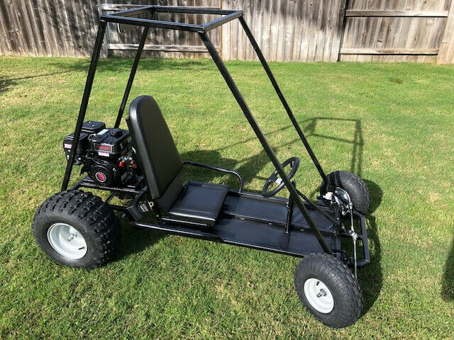 New Custom Built Go-Kart For Sale: Black, 6 1/2 HP, One Seater