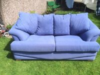2 Seater Sofa Bed with metal frame & sprung mattress