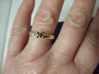 14K Yellow Gold Promise Ring