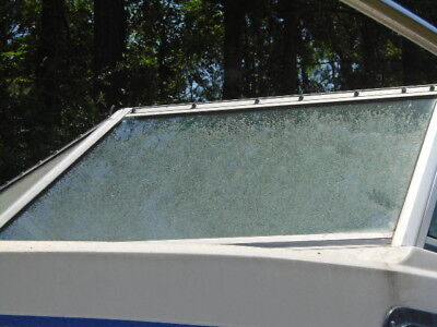 Chris Craft Sea Hawk 22 Port FRONT Windshield, THIS SINGLE PIECE ONLY