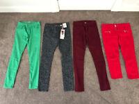 Bundle size 12 3 skinny jeans, 1 cropped jeans