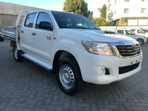 2014 Toyota Hilux KUN26R MY14 SR (4x4) White 5 Speed Automatic Double Cab Chassis North Strathfield Canada Bay Area Preview