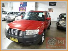 2008 Subaru Forester MY08 X Red 5 Speed Manual Wagon Warwick Farm Liverpool Area Preview