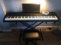 Korg B1 Digital Piano with Stand includes pedal, bench, frame & headphones