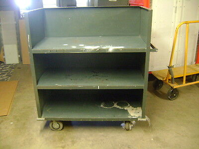 Urban Industrial Automotive Metal 3 Shelf Rolling Material Handling Cart