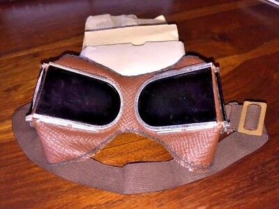 Early 1980 Soviet Union Industry Googles Glasses Unused Russia Ussr Cccp Box Doc