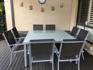 Excellent Cond Glass / Alumin table and chairs Warriewood Pittwater Area Preview