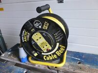 Caravan mains hook up 50m cable reel