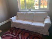ikea white ektorp 3 seater sofa covers