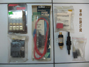 Classic 6pc Lot Of Assorted AutomotiveFuse Blocks/Fuses Cir1980s