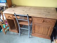 Solid Pine Computer Desk & Chair