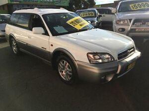 2001 Subaru Outback B3A MY01 White 4 Speed Automatic Wagon Lidcombe Auburn Area Preview