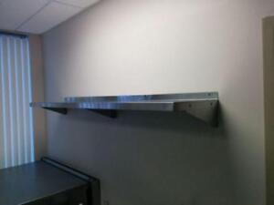 Tablette Murale En Acier Inoxydable - Stainless Steel Wall Mount Shelving. All Sizes Available- New!!