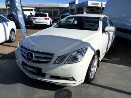2009 Mercedes-Benz E350 C207 Elegance 7G-Tronic White 7 Speed Auto Seq Sportshift Coupe Port Macquarie 2444 Port Macquarie City Preview