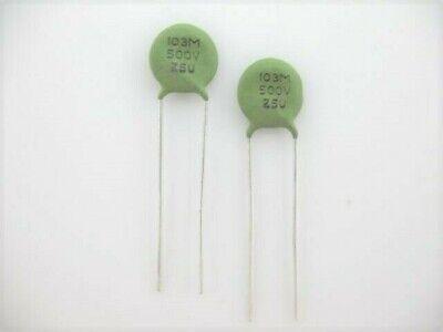 25 Pcs .01uf 10nf 103 0.01uf 500 Volts Ceramic Disc Capacitor Ref 46