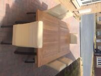 Dining Table & Chairs - John Lewis oak table and 6 chairs in tremendous condition