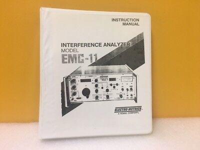 Electro-metrics Interference Analyzer Emc-11 Instruction Manual
