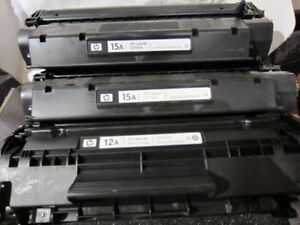 HP LaserJet cartridges (15A and 12A)