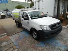 2009 Toyota Hilux TGN16R 09 Upgrade Workmate White 4 Speed Automatic Cab Chassis Homebush West Strathfield Area Preview