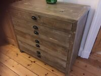 vintage distressed driftwood chest drawers nearly new
