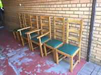 Oak Dinning Room Chairs for sale.