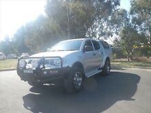 2013 Mitsubishi Triton MN MY13 GL-R Double Cab Silver 5 Speed Manual Utility Young Young Area Preview