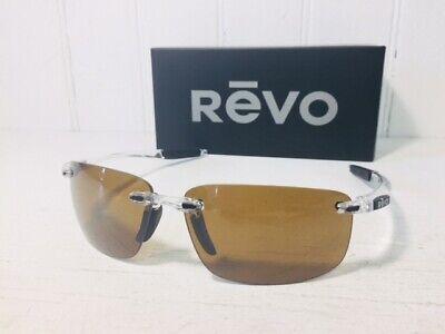 REVO RE4059 09 BR DESCEND N Crystal w/ Terra POLARIZED Lenses Sunglasses (Revo Descend N Sunglasses)