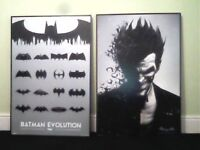 DC and Marvel posters - Batman Evolution, Joker, Iron Man, Hulk