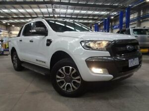 2017 Ford Ranger PX MkII Wildtrak Double Cab White 6 Speed Sports Automatic Utility Strathmore Heights Moonee Valley Preview