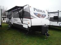 2016 Puma 30RKSS Rear Kitchen Travel Trailer with Slideout