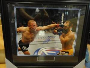 Fathers Day! Georges St Pierre GSP Signed 16x20 Custom Framed