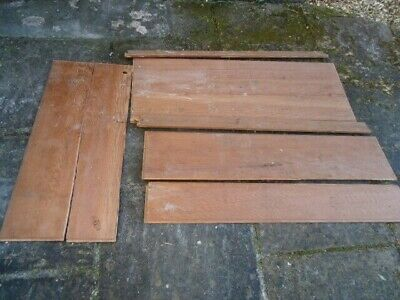 LARGE 19TH CENTURY PINE BACK BOARDS WITH RAILS FOR A LARGE CUPBOARD