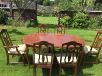Beautiful rosewood table plus chairs
